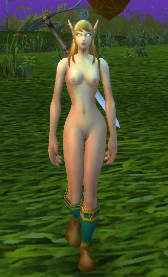 Blood Elf and Draenei Female Nude Patch Screenshots